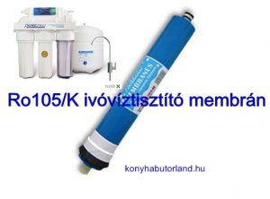 RO105 ozmózis ivóvíztisztító membrán szűrőbetét
