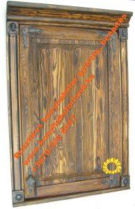 Rusztikus konyhabútor ajtófront
