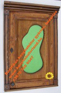 Rusztikus üveges ajtófront gyártás, bútorasztalos mester