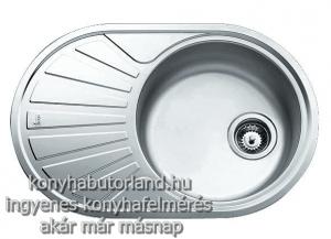 Kör alakú teka dr 77 1b mosogatótálca 1medence + 1 cseptálca. akciós mosogatók konyhabútorba