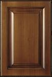 Mogyoró színű egyenes marású patinás festésű vákuumfóliás konyhabútor ajtófront