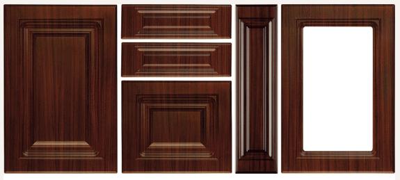 Mdf vákuumfóliás konyhabútor ajtófront mahagóni szín